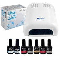 Combo Cabina UV 36W + 5 Esmaltes On Off + Base Coat On Off