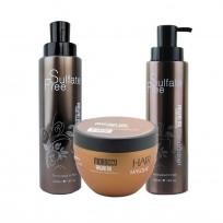 Shampoo Sulfate Free x400ml + Acondicionador Sulfate Free x400ml + Máscara Argan Oil x250 Nuspa