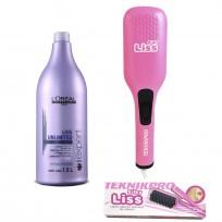 Shampoo Liss Unlimited L'Oréal x1500 ml + Cepillo Alisador