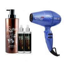 Shampoo x1000 ml Nuspa + 2 Spray 11 en 1 + Secador Torino Babyliss
