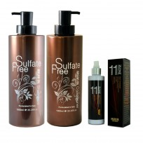 Shampoo Sulfate Free x1000ml + Acondicionador Sulfate Free x1000ml + Spray 11 in one Nuspa