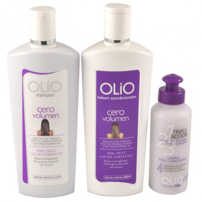 Pack OLIO Lisos / Lacios Perfectos : Shampoo + Acondicionador + Crema de Peinar