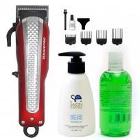 DIA DEL PADRE! Máquina Super Clipper TeknikPro + Shampoo y Gel Men